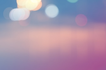 Blurred light on road in city with bokeh abstract background