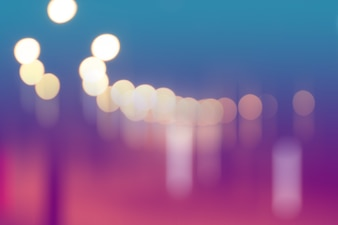 ボケ抽象的な背景と都市の道路上でぼやけた光