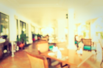Blurred reception hall