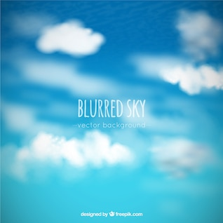 Blurred sky and clouds background