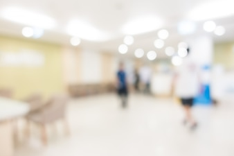 Blurred view of people in a waiting room