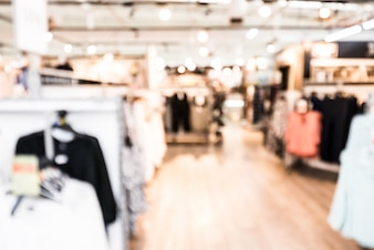 Blurry background of clothing store