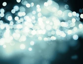 Blurry lights, cold tones