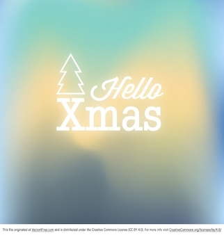 Blurry xmas poster design