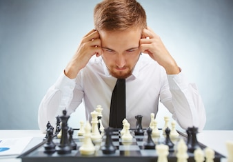 Board idea player chess young