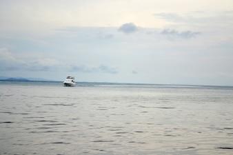 Boat on the horizon