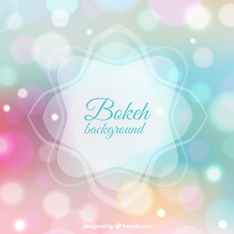 Bokeh background in pastel colors