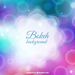 Bokeh background in purple and blue tones