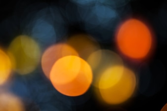 bokeh effect background of decoration on tree by party light