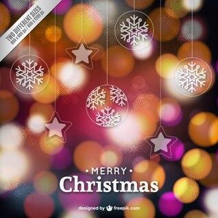 Bokeh style Christmas background
