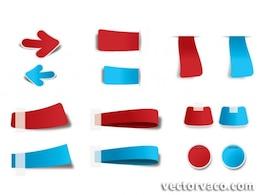 Bookmark vector set