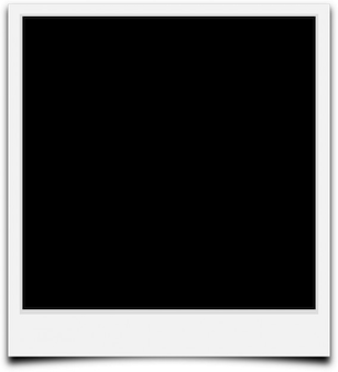 Border outline camera frame blank