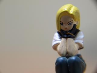 Bored girl, macro toy, hopelessness