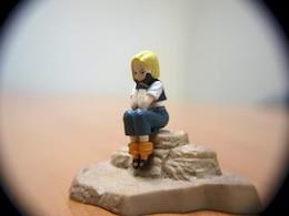 Bored girl, macro toy, teenager