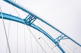 Bottom view of arch bridge
