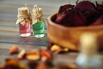 Bowl perfume natural background treatment
