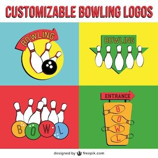 Bowling vector logos