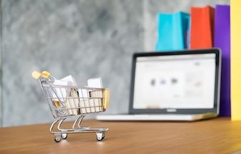 Box market electronic ordering shop basket