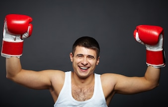 Boxer power strength lad gloved