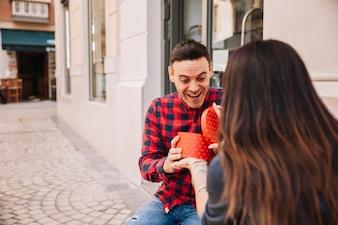 Boyfriend getting a present