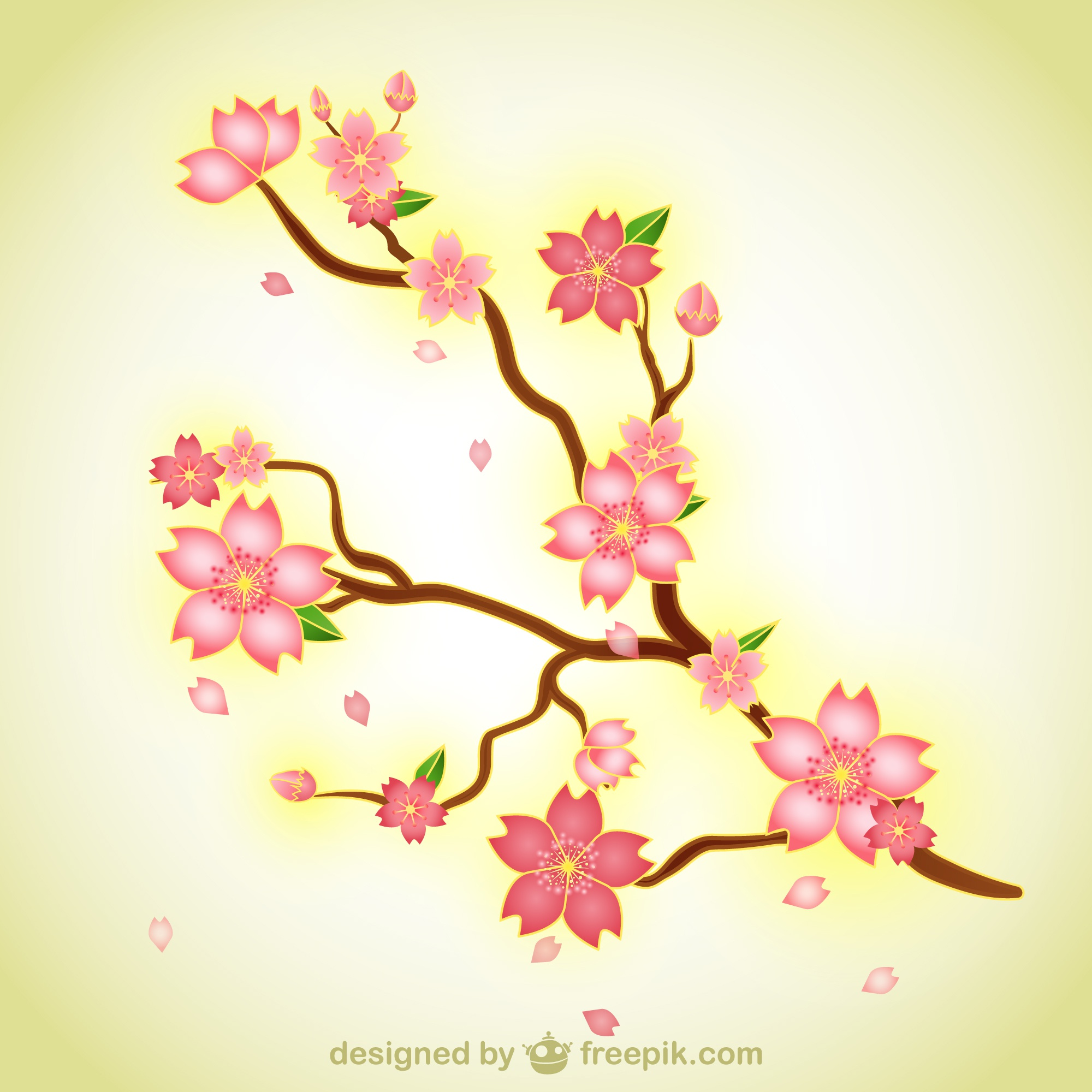 Branch with flowers illustration