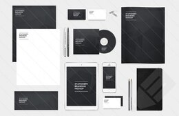 Branding and identity pack PSD