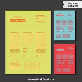 Branding guide vector template