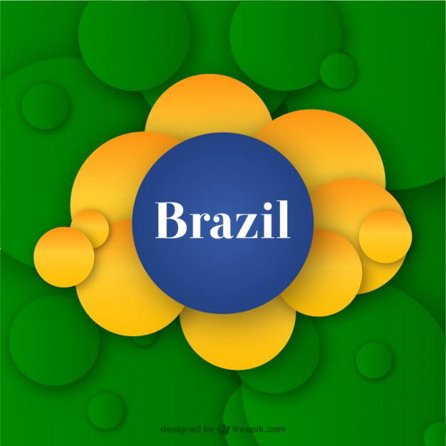 Brazil abstract circle background