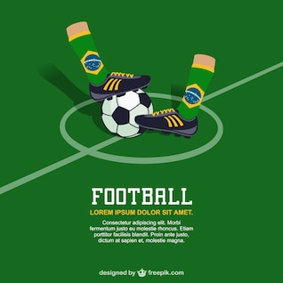 Brazil Football vector free image