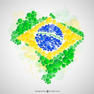 Brazil map flag vector free