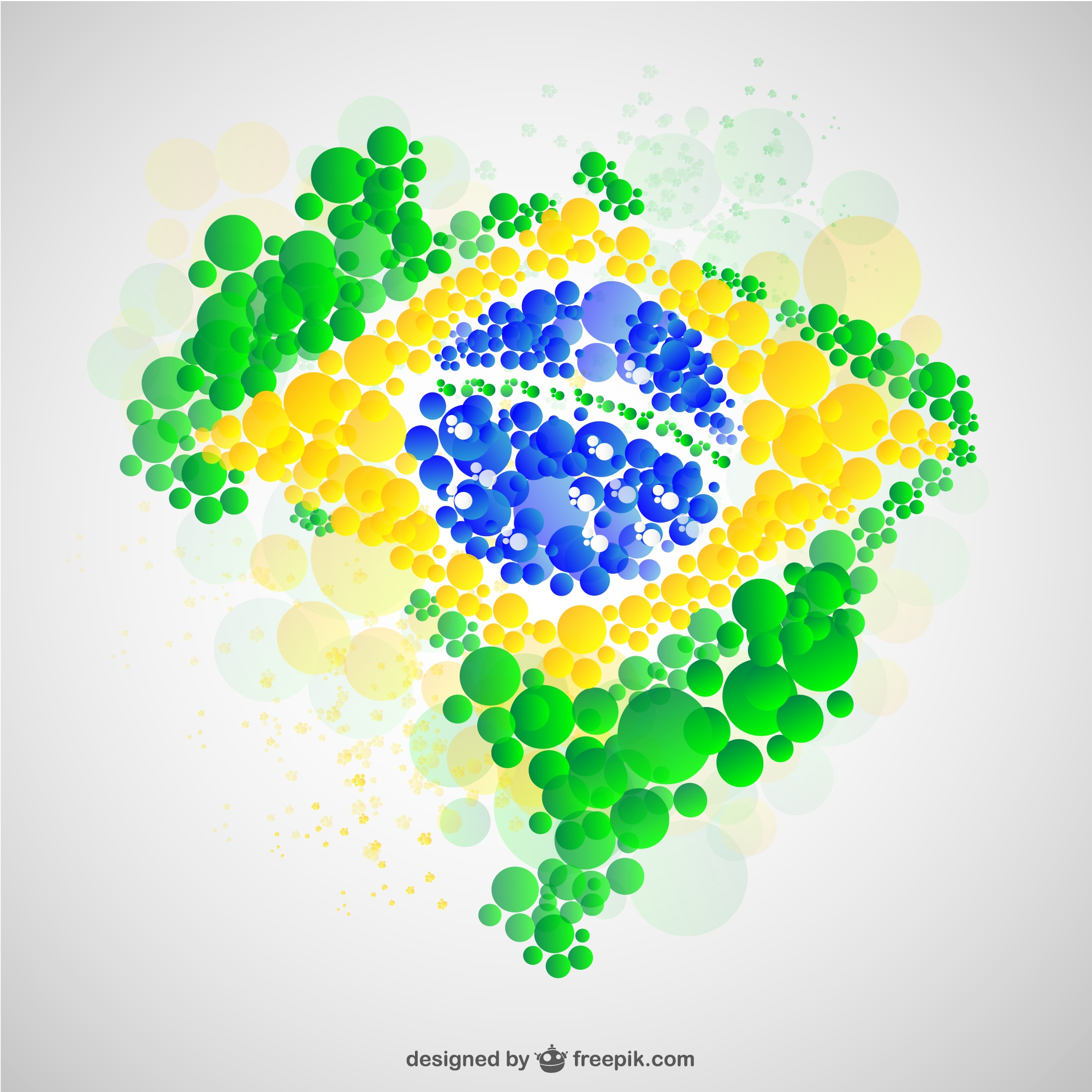 Brazil map flag vector free