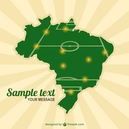 Brazil map soccer field template