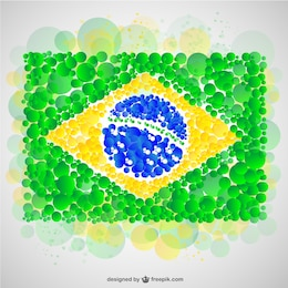 Brazilian flag vector design