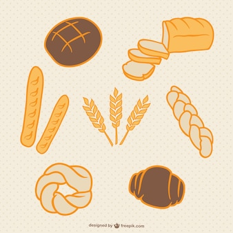 Bread and wheat hand drawn collection