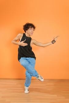 Break dancing performer
