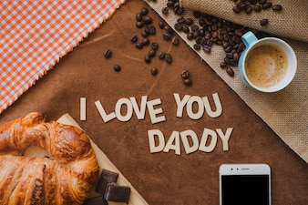 Breakfast background for father's day