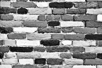 Brick texture black and white