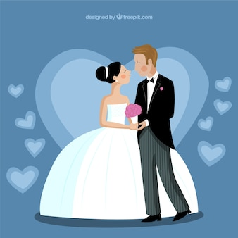 Bride and groom, illustration