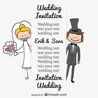 bride and groom wedding cartoon