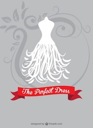 Bride dress vector