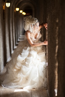 Bride with beautiful dress