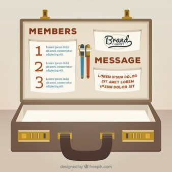 Briefcase infographic