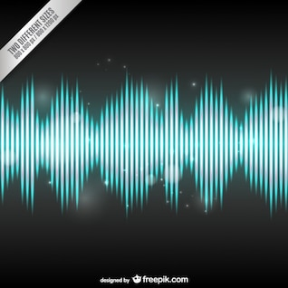 Bright audio wave background