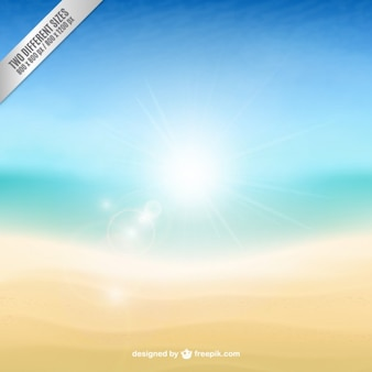 Bright beach background in abstract style