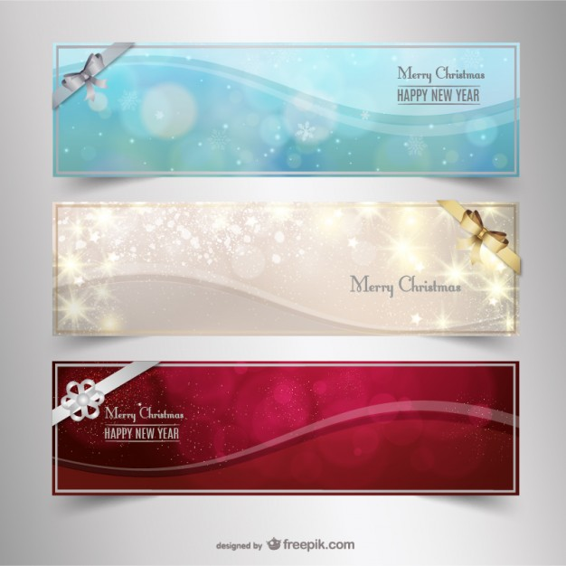 Bright Christmas banners