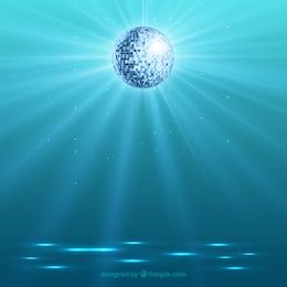 Bright disco ball background