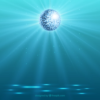 Bright disco ball background
