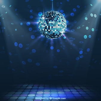 Bright disco ball