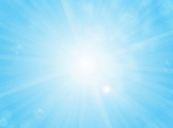 Bright light with beams sky-blue vector background