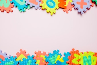 Bright puzzles for kids on white